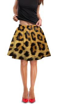 """Юбка в складку """"Леопард"""" - кошка, арт, животные, леопард, леопардовый"""
