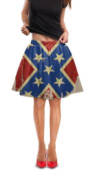 """Юбка в складку """"Флаг конфедерации США"""" - арт, америка, флаг, конфедерация, флаг конфедерации"""