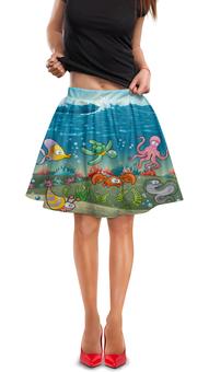 """Юбка в складку """"Обитатели моря"""" - мультяшки, рыбки, обитатели моря"""