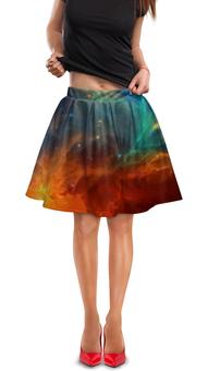 """Юбка в складку """"Космическая туманность"""" - космос, фотография, звёзды, спутник, туманность"""