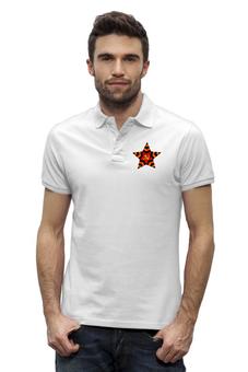 """Рубашка Поло Stanley Performs """"Звезда"""" - ссср, патриот, россия, георгиевская ленточка, серп и молот"""