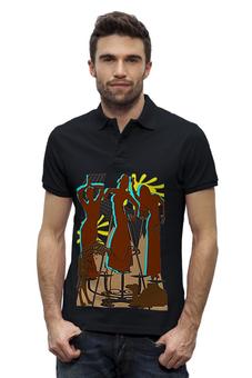 """Рубашка Поло Stanley Performs """"Восточные танцовщицы."""" - девушки, пустыня, танец живота, восточные танцы, верблюды"""