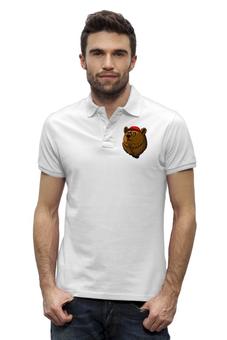 """Рубашка Поло Stanley Performs """"Smart Bear"""" - bear, медведь, мишка, smart, умный медведь"""