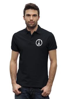 """Рубашка Поло Stanley Performs """"Париж"""" - мир, франция, пацифик, солидарность"""
