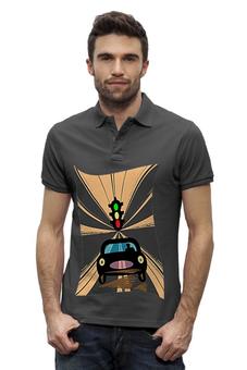 "Рубашка Поло Stanley Performs ""Светофор."" - дорога, автомобиль, светофор"