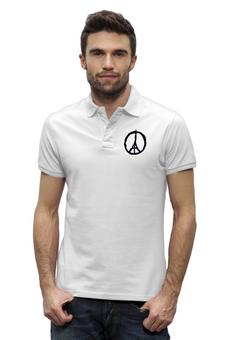 """Рубашка Поло Stanley Performs """"Париж"""" - франция, paris, пацифик, солидарность, терракт"""