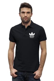 """Рубашка Поло Stanley Performs """"Semki"""" - adidas, логотип, адидас, антибренд, семки"""