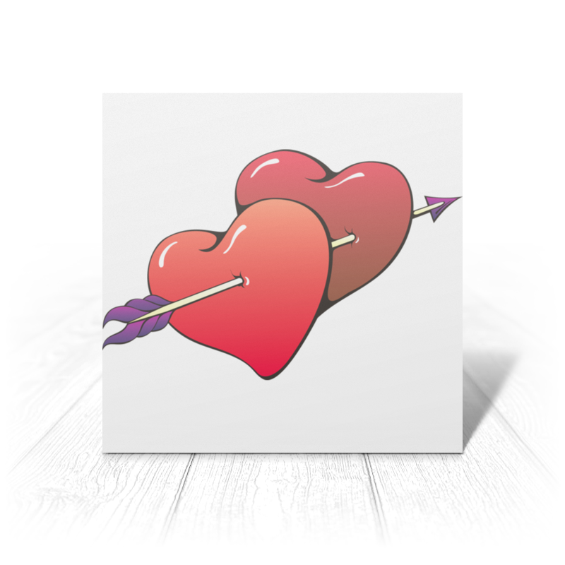 Открытка Printio Сердца пронзенные стрелой открытка printio подарок