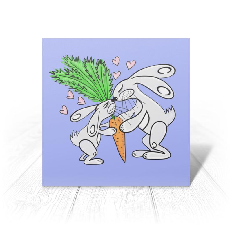 Открытка Printio Зайчишки с морковкой открытка printio подарок