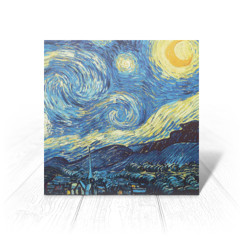 Открытка Printio Ван гог. звездная ночь открытка printio ван гог звездная ночь