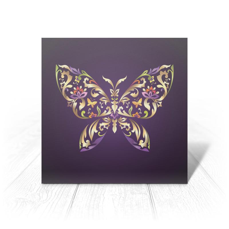 Открытка Printio Узорчатая бабочка jd коллекция бабочка 6 12 месяцев красный дефолт
