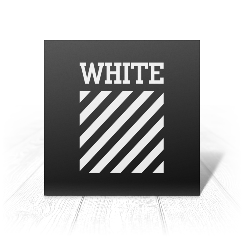Printio Off-white white sexy style off shoulder crop top