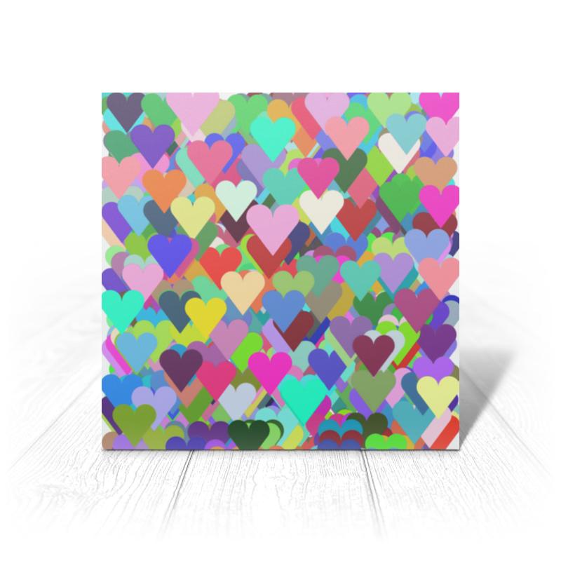 Открытка Printio Валентика я тебя люблю (сердце+сердечки) открытка ручной работы я тебя люблю