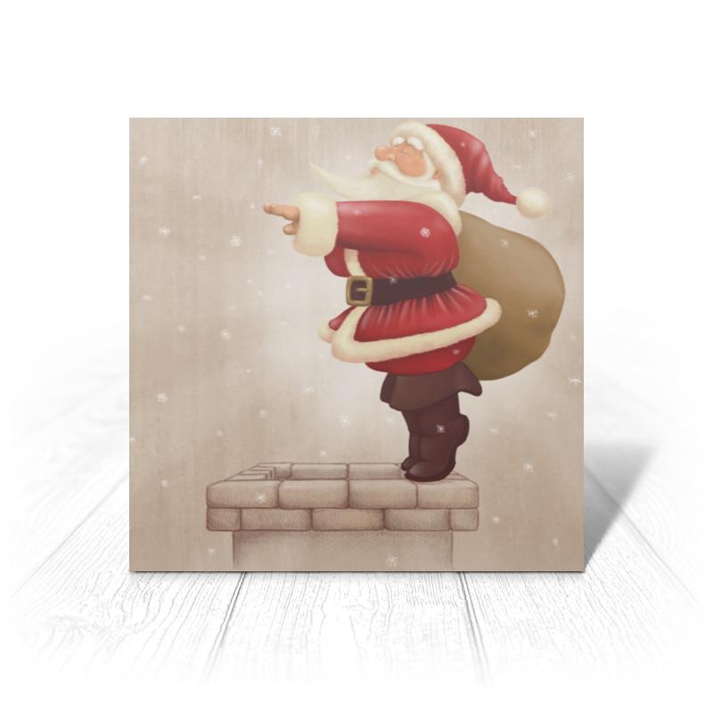 Открытка Printio Санта с мешком открытка код с