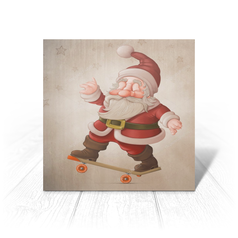 купить Открытка Printio Санта клаус по цене 300 рублей