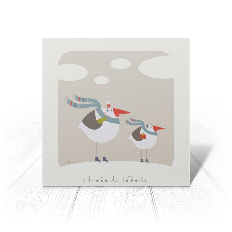 Открытка Printio Зимние птички