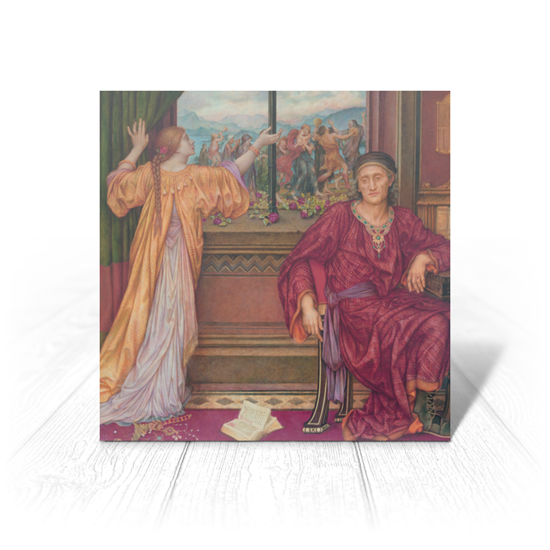 Printio Золотая клетка (эвелин де морган) картина левитана осень золотая