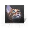 """Открытка """"КОШКИ. МАГИЯ КРАСОТЫ"""" - кошка, стиль, глаза, красота, яркость"""