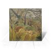 "Открытка ""Нападение в джунглях (картина Анри Руссо)"" - картина, природа, тигр, живопись, руссо"
