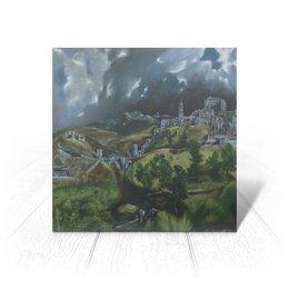 """Открытка """"Вид Толедо (картина Эль Греко)"""" - картина, пейзаж, живопись, возрождение, эль греко"""