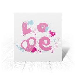"""Открытка """"Надпись Love"""" - праздник, сердце, любовь, день святого валентина, розовый"""