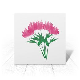 """Открытка """"розовые абстрактные цветы"""" - праздник, цветы, розовый, подарок, букет"""