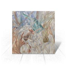 "Открытка ""Стекло (картина Михаила Ларионова)"" - картина, живопись, авангард, ларионов"