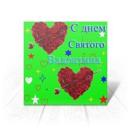 """Открытка """"С днем святого Валентина. Любовь, сердца. """" - любовь, сердечки, святой валентин"""