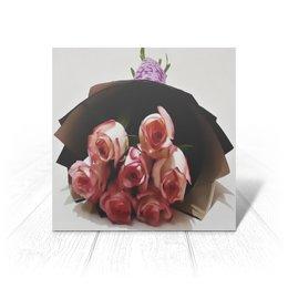 """Открытка """"Розовые розы"""" - цветы, подарок, валентинка, букет, розовые розы"""