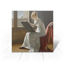 """Открытка """"Портрет молодой женщины (Мари-Дениз Вильер)"""" - картина, портрет, живопись, вильер, классицизм"""