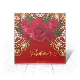 """Открытка """"День Св. Валентина"""" - любовь, цветы, розы, валентинка, день св валентина"""
