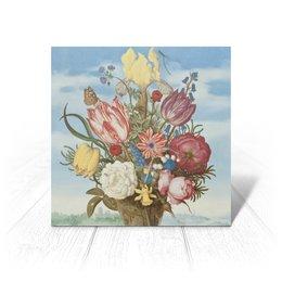 """Открытка """"Букет цветов на полке (Амброзиус Босхарт)"""" - цветы, картина, живопись, натюрморт, босхарт"""