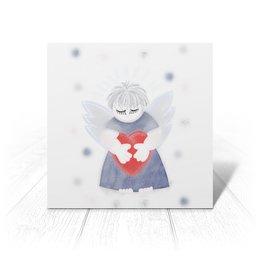 """Открытка """"Маленький сердечный ангел"""" - любовь, ангел, день святого валентина, малыш, день влюбленных"""