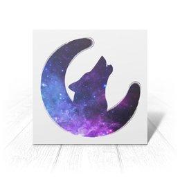"""Открытка """"Space animals"""" - звезды, космос, волк, созвездия, галактика"""
