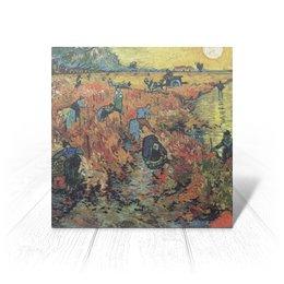 """Открытка """"Красные виноградники в Арле. Монмажур"""" - картина, пейзаж, ван гог, живопись, постимпрессионизм"""