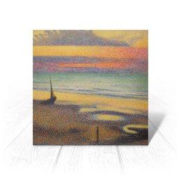 """Открытка """"Пляж в Хейсте (Жорж Леммен)"""" - картина, пейзаж, живопись, жорж леммен, неоимпрессионизм"""
