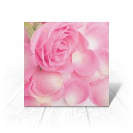 """Открытка """"Капли на розовых лепестках"""" - цветы, 8 марта, подарок, розы, день влюбленных"""