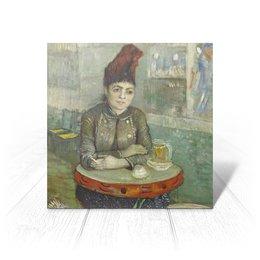 "Открытка ""Агостина Сегатори в кафе «Тамбурин»"" - картина, портрет, ван гог, живопись, постимпрессионизм"