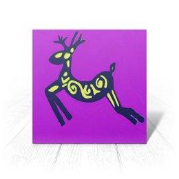 """Открытка """"Олень"""" - новый год, олень, веселый, скачет"""