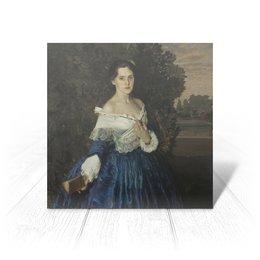 "Открытка ""Дама в голубом (картина Сомова)"" - картина, портрет, живопись, модерн, сомов"