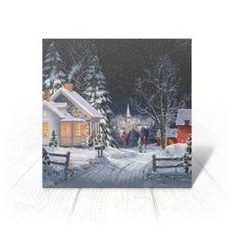 """Открытка """"ЗИМНИЙ ВЕЧЕР"""" - стиль, снег, улица, красота, дома"""