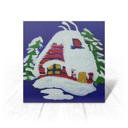 """Открытка """"Дом в лесу"""" - новый год, зима, счастье, снег, 2019"""