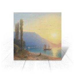 """Открытка """"Закат в Ялте (картина Айвазовского)"""" - картина, пейзаж, живопись, крым, айвазовский"""