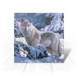 """Открытка """"БЕЛЫЙ ВОЛК"""" - стиль, снег, лес, красота, волк"""
