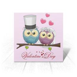 """Открытка """"Любовь"""" - сердце, любовь, свадьба, сова, день св валентина"""