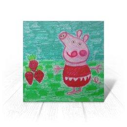 """Открытка """"Свинка"""" - новый год, клубничка, свинка, вкусно"""