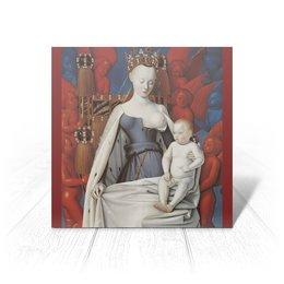 """Открытка """"Дева Мария (Маленский диптих)"""" - картина, живопись, христианство, фуке"""