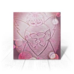 """Открытка """"Сердечный ангел"""" - сердце, любовь, 14 февраля, день влюбленных, сердечный ангел"""