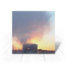 """Открытка """"Рассвет, похожий на пожар"""" - зима, рассвет, пожар, тревожный"""