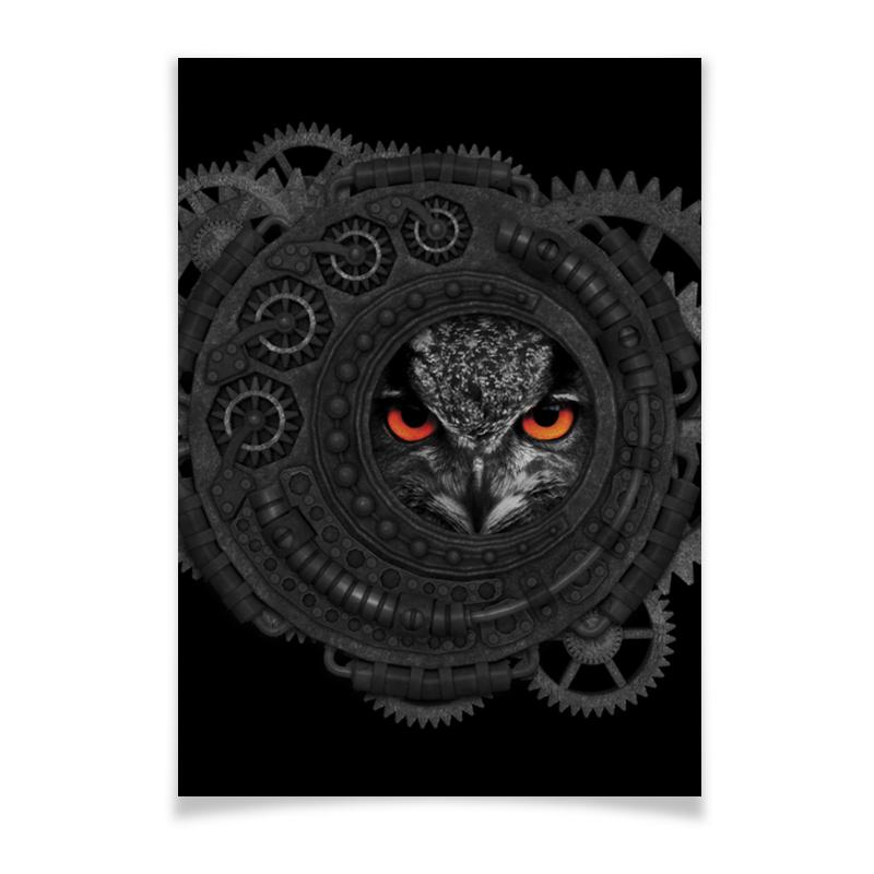 лучшая цена Плакат A3(29.7x42) Printio Стимпанк сова